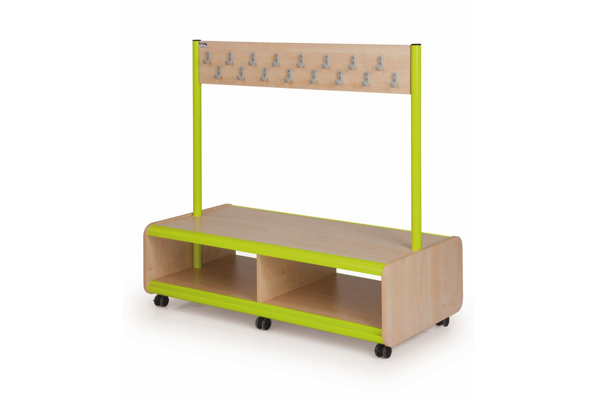 Mobile double sided bench 32 hooks