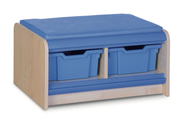 Double Tray Storage Bench