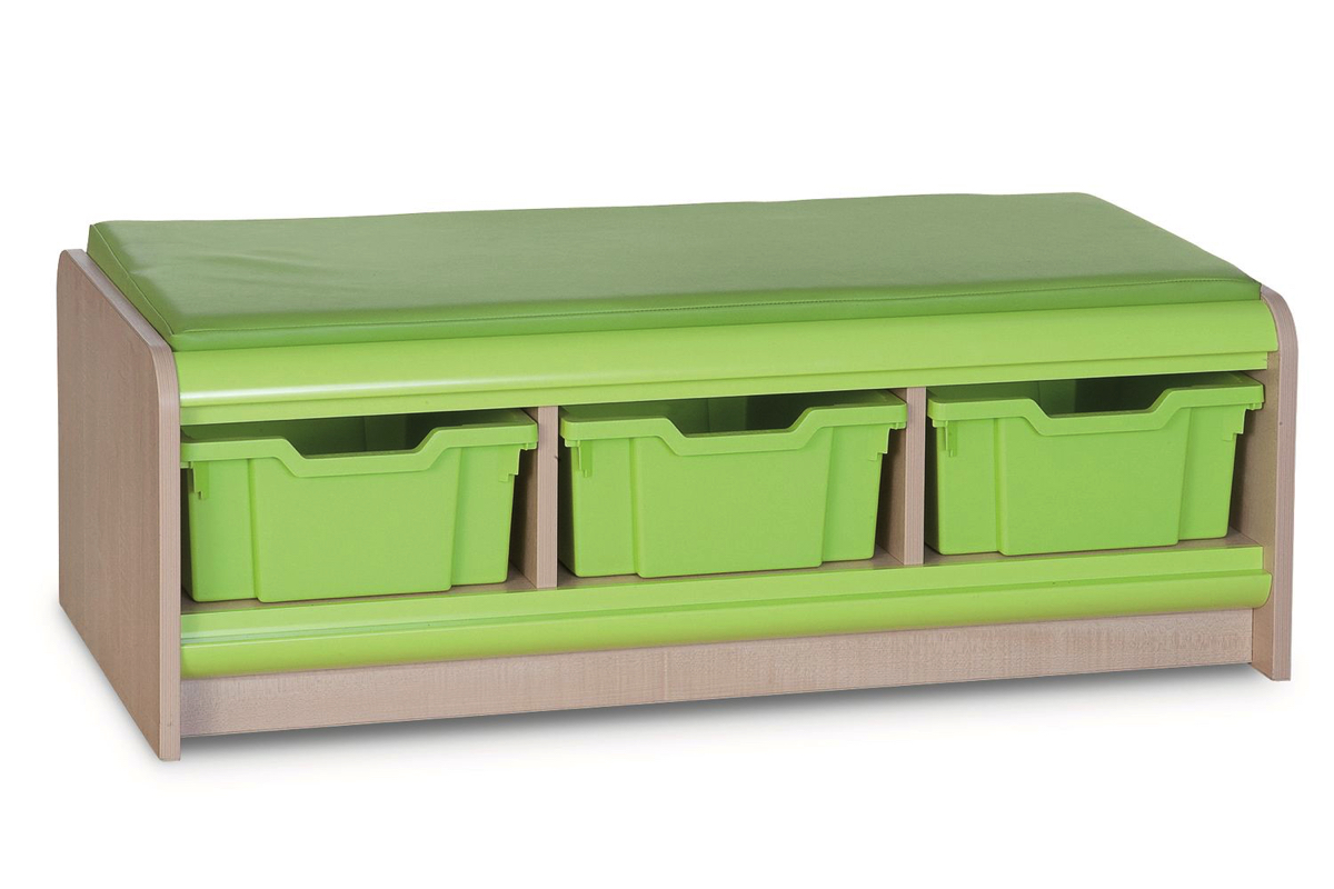 Triple Tray Storage Bench
