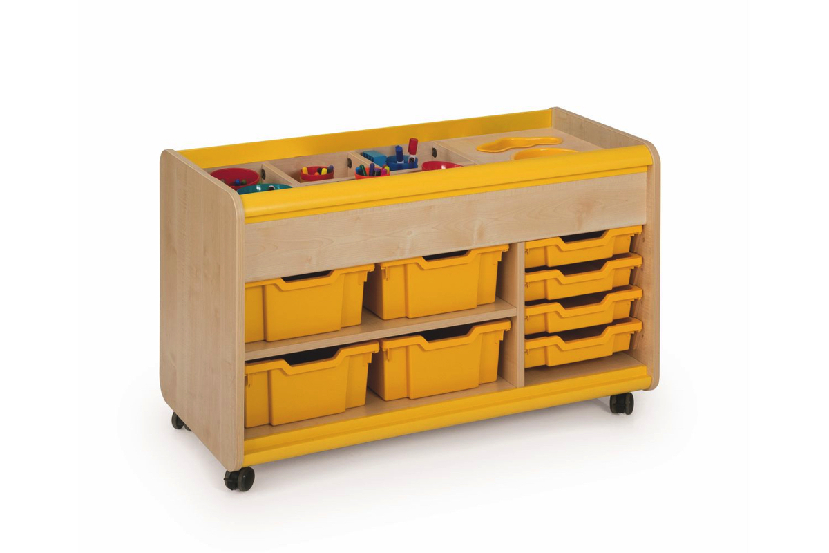 Craft Trolley With Yellow Pots