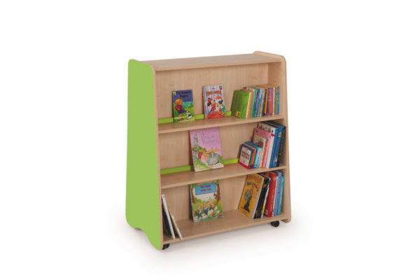 Tall Double Sided Mobile Bookcase