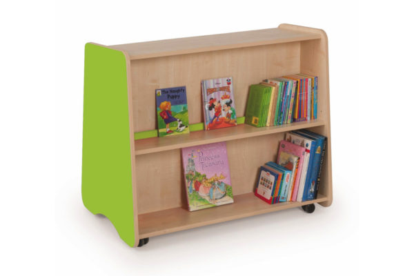 Low Double Sided Mobile Bookcase